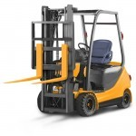 Orange Forklift Truck Illustration