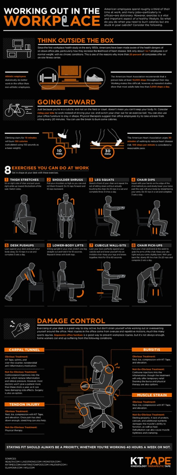 Workplace Infographic: Working Out In The Workplace - ComplianceandSafety.com