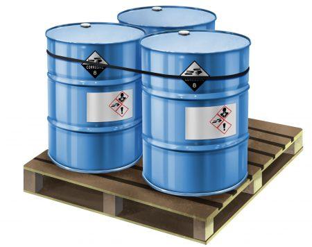 GHS Labeled Barrels