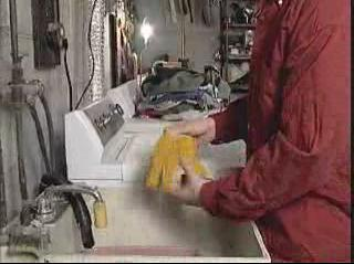 Proper technique for washing PPE.