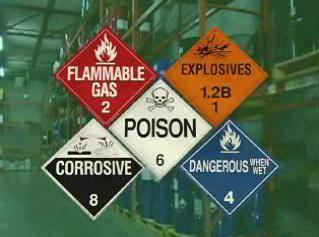 Review the 5 potential hazardous material types.