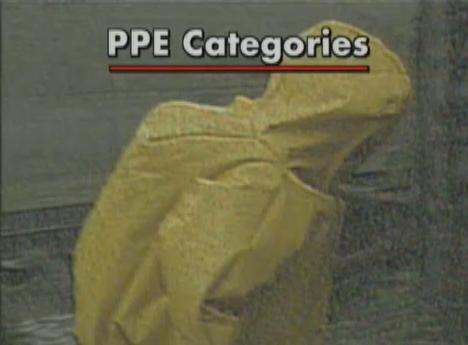 The four categories of PPE according to OSHA's HAZWOPER Standard.