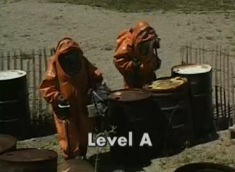 Examples of what Level A PPE protects you from.