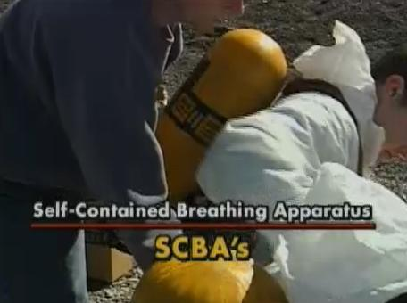 The advantages and disadvantages of using a self contained breathing apparatus (SCBA).