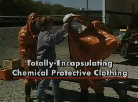 Detailed information on Totally-Encapsulating Chemical Protective Clothing (TECPC Suits).