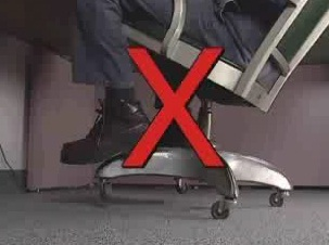 How to avoid chair-related hazards.