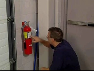 How portable fire extinguishers work and the importance of using them correctly.