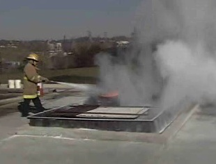 Knowing how to correctly handle flammable liquids during a fire.