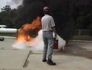 Knowing when and how to use a fire extinguisher.