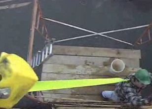 Knowing the specific OSHA rules regarding fall hazards when working on a scaffold.