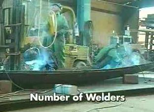 Knowing the ratio of welders to the amount of breathable air.