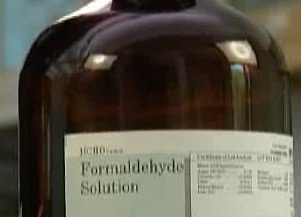 How chemicals, including formaldehyde, can be hazardous.