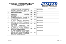 Overhead Crane Training Downloads Answers Amp Guides